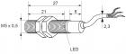 Kovový indukční snímač, délka 25 mm