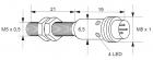 Kovový indukční snímač, délka 40 mm