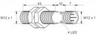 Kovový indukční snímač, délka 60 mm