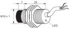 Kovový indukční snímač, délka 35 mm