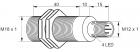 Kovový indukční snímač, délka 65 mm