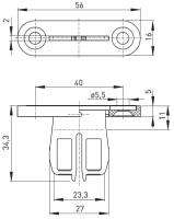 Klíč AZ 15/16-B1  pro bezpečnostní spínače