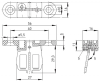 Klíč AZ 15/16-B3 pro bezpečnostní spínače