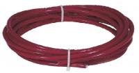 Červené lano z nerez oceli