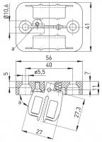 Klíč AZ 15/16-B2 s magnetickou západkou