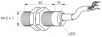 Kovový indukční snímač, délka 50 mm