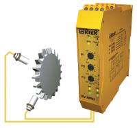Sada pro měření rychlosti otáček - bezpečnostní relé, 2x snímač, 2x kabel