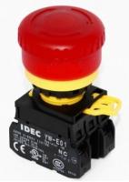 Prosvětlené nouzové tlačítko od IDEC